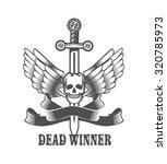 vector vintage emblem of a... | Shutterstock .eps vector #320785973