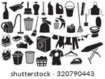 cleaning icons  bucket  plunger ... | Shutterstock .eps vector #320790443