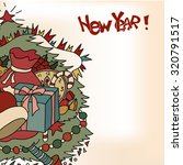 card for the new year. vintage. ... | Shutterstock .eps vector #320791517