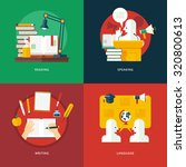 set of flat design illustration ... | Shutterstock .eps vector #320800613
