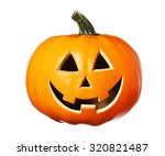 happy halloween pumpkin  jack o ... | Shutterstock . vector #320821487