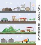 biomass energy graphic | Shutterstock .eps vector #320827343
