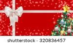 christmas ribbon background | Shutterstock .eps vector #320836457