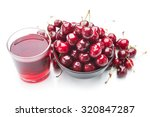 cherry juice and fruits... | Shutterstock . vector #320847287