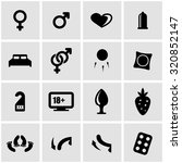 Stock vector vector black sex icon set sex icon object sex icon picture sex icon image sex icon graphic sex 320852147