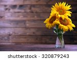 Beautiful Bright Sunflowers In...