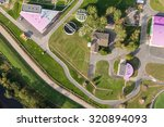 aerial view of sewage treatment ... | Shutterstock . vector #320894093