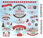 christmas sale design set  ... | Shutterstock .eps vector #320899823