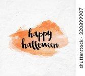 brush lettering happy halloween ...