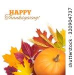 thanksgiving day background.... | Shutterstock .eps vector #320904737