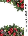 christmas background border... | Shutterstock . vector #320910953