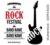 rock festival poster. rock and... | Shutterstock .eps vector #320915633