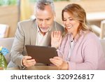 brisk conversation. pleasant... | Shutterstock . vector #320926817