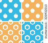 apple pattern set  simple and...