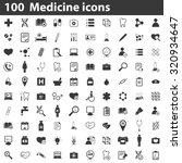 100 medicine icons  simple... | Shutterstock . vector #320934647