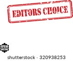 editors choice red grunge... | Shutterstock .eps vector #320938253