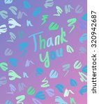 abstract thank you card   hand... | Shutterstock .eps vector #320942687