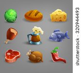 Resource Icons For Games. Food...