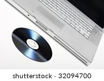 laptop and dvd | Shutterstock . vector #32094700