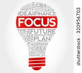 focus bulb word cloud  business ... | Shutterstock .eps vector #320956703