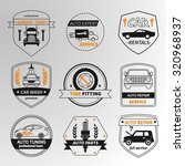 set of car service labels ... | Shutterstock .eps vector #320968937