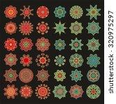 set of decorative rosettes...   Shutterstock .eps vector #320975297