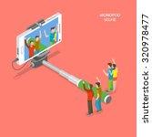 selfie monopod isometric flat...   Shutterstock .eps vector #320978477