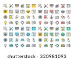 flat line colorful icons...