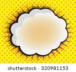 speech bubble pop art comic... | Shutterstock .eps vector #320981153