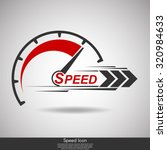 speed internet silhouette... | Shutterstock .eps vector #320984633