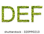 letter d e f made of green... | Shutterstock . vector #320990213
