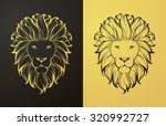 Gold And Black Lion Icon....