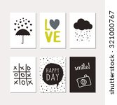 set of creative cards design.... | Shutterstock .eps vector #321000767