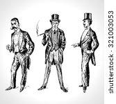 vintage hand drawn gentlemen