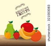 vegetarian menu design  vector... | Shutterstock .eps vector #321003083