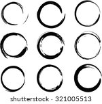 set of vector grunge circle... | Shutterstock .eps vector #321005513