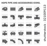 vector icon of hdpe pipe and... | Shutterstock .eps vector #321009113