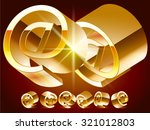 3d vector deluxe alphabet of... | Shutterstock .eps vector #321012803