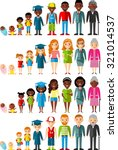 all age group of african... | Shutterstock .eps vector #321014537