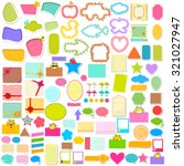 illustration of scrapbook... | Shutterstock .eps vector #321027947