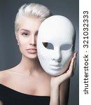 Fashion Portrait Of Blond Lady...