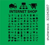 internet shop icons | Shutterstock .eps vector #321042857
