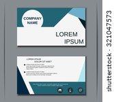 modern business visiting card ... | Shutterstock .eps vector #321047573