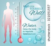 hydrate yourself well. vector... | Shutterstock .eps vector #321051557