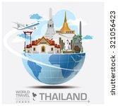 thailand landmark global travel ... | Shutterstock .eps vector #321056423