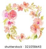 wreath wedding watercolor.... | Shutterstock . vector #321058643