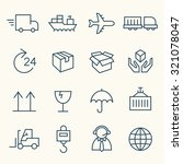 logistics icon set | Shutterstock .eps vector #321078047
