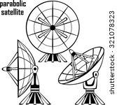 parabolic satellite | Shutterstock .eps vector #321078323