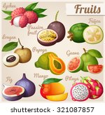 set of cartoon food icons.... | Shutterstock .eps vector #321087857