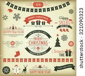 christmas set   labels  emblems ... | Shutterstock .eps vector #321090323